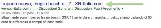titolo google troncato marchio azienda