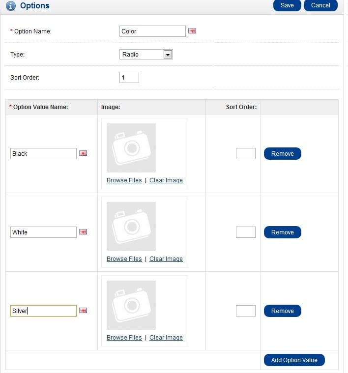 elenco-opzioni-opencart