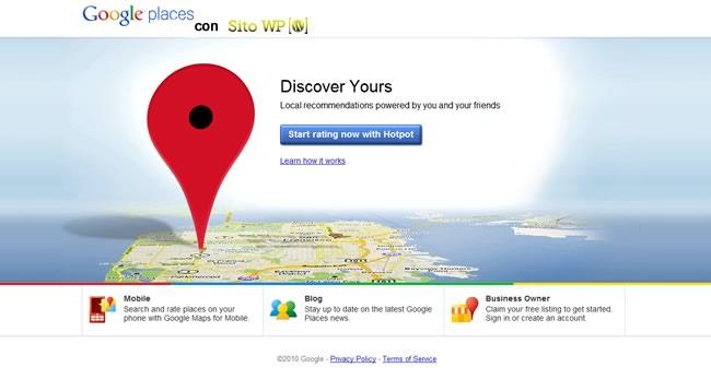 prima pagina google places