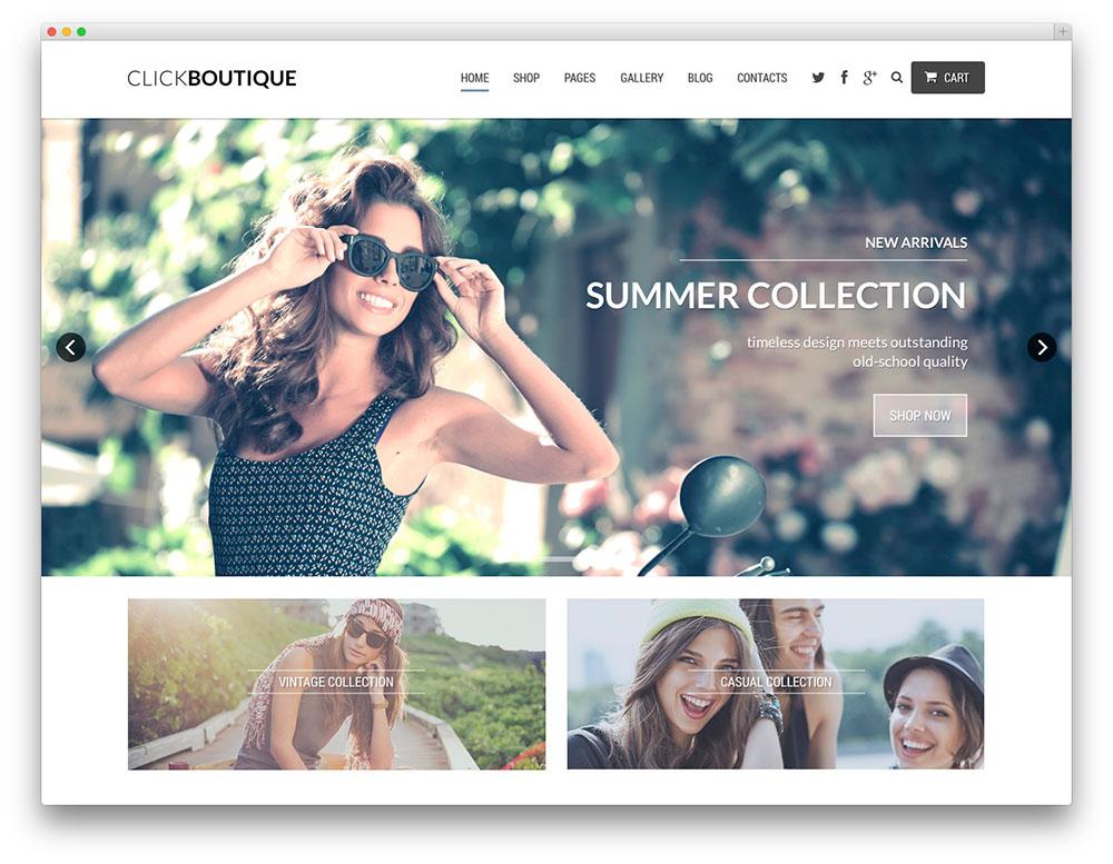 Click Boutique tema ecommerce-wordpress - tema woocommerce