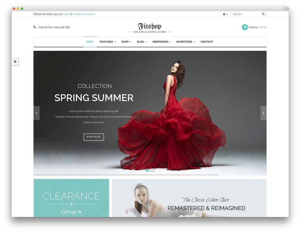 Fitshop tema ecommerce wordpress - tema woocommerce