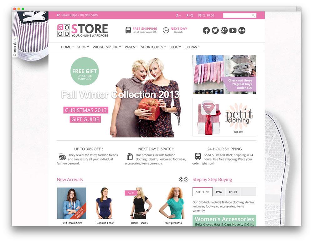 GoodStore tema ecommerce-wordpress tema woocommerce