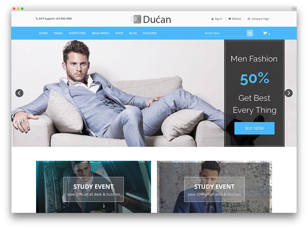 ducan ecommerce wordpress woocommerce tema