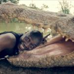 selfie alligatore