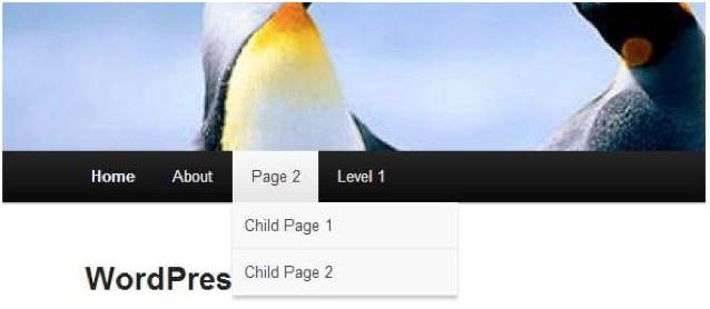 menu-wordpress-front-end