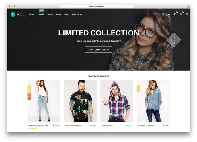 Adot tema e-commerce wordpress