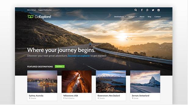 GoExplore tema wordpress agenzie viaggio