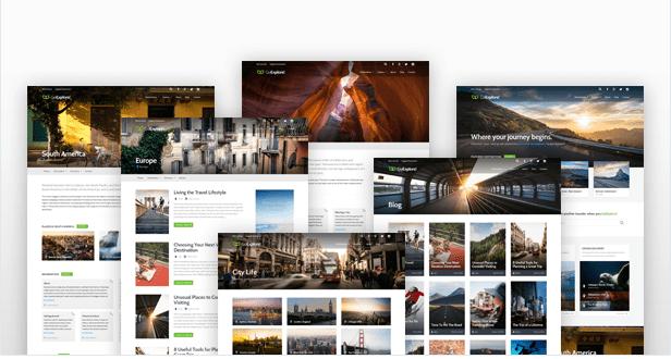 GoExplore tema wordpress agenzie viaggio modelli