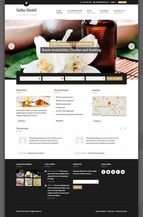 Temi-Wordpress-Soho-Hotel
