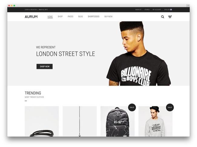 aurum tema e-commerce wordpress