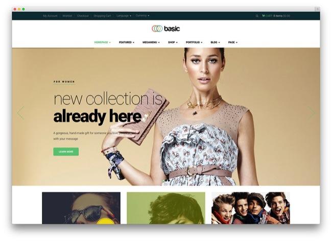 basic temi e-commerce wordpress