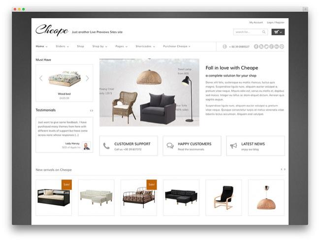 cheope furniture temi e-commerce wordpress