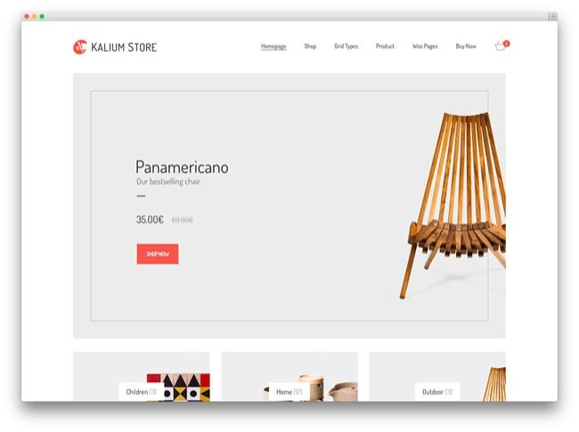 kalium temi e-commerce wordpress