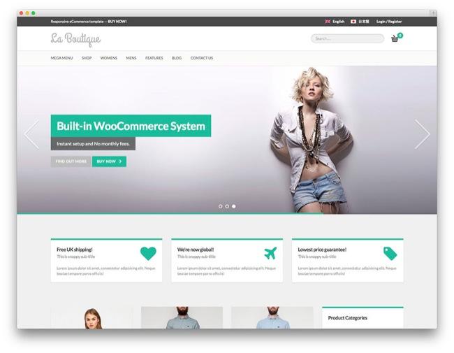 la boutique temi e-commerce wordpress