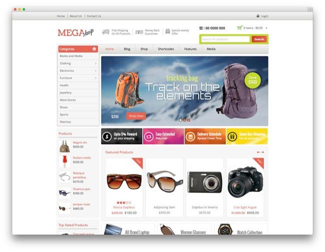 mega temi e-commerce wordpress