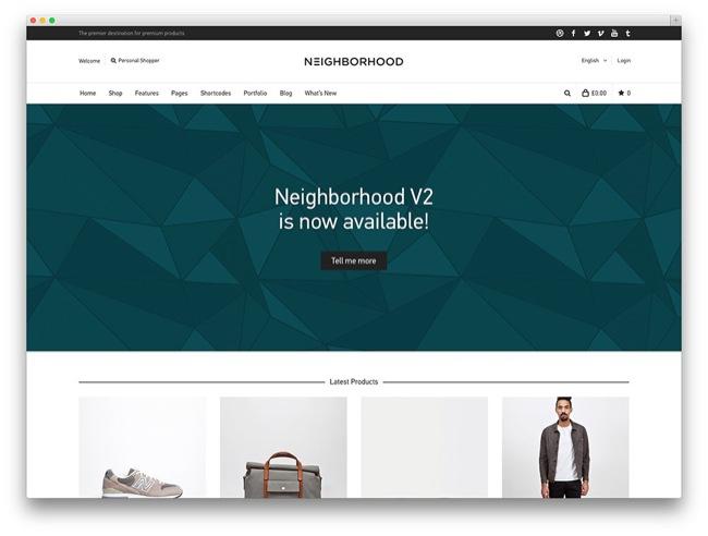 neighborhood temi e-commerce wordpress