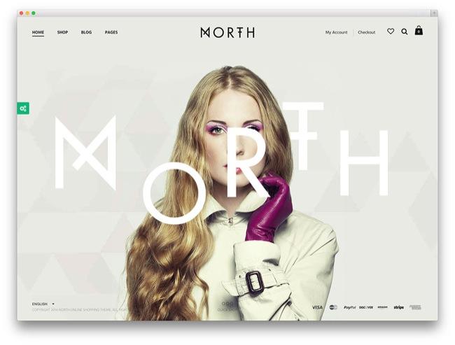 north tema e-commerce wordpress