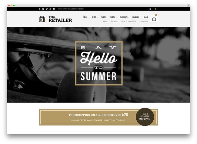 the retailer tema e-commerce wordpress
