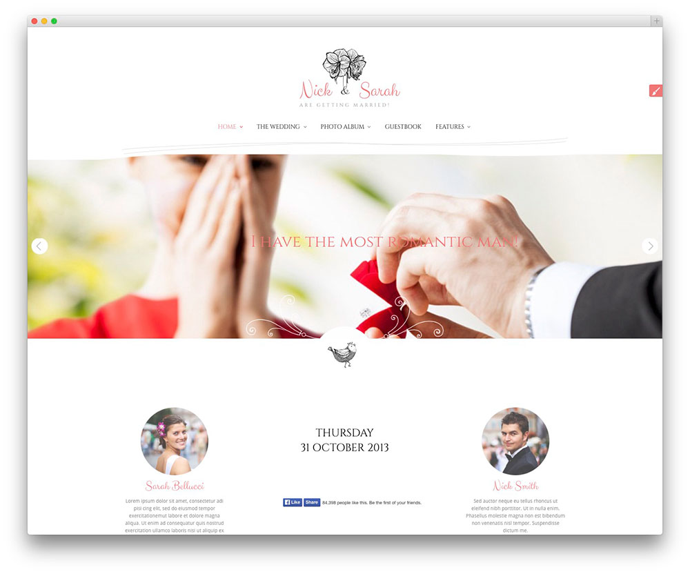 The-Wedding-Day-Template-Wordpress-Wedding-Planner