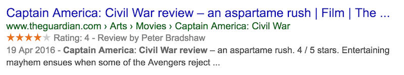 meta description captain-america-civil-war-review-Google