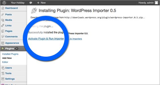 attivazione-wordpress-importer