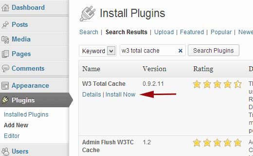 installare-w3totalcache