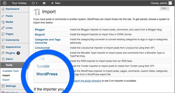 sorgenti-esportazione-wordpress