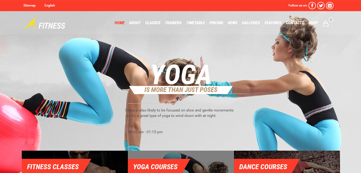 Gym-Fit Tema Wordpress