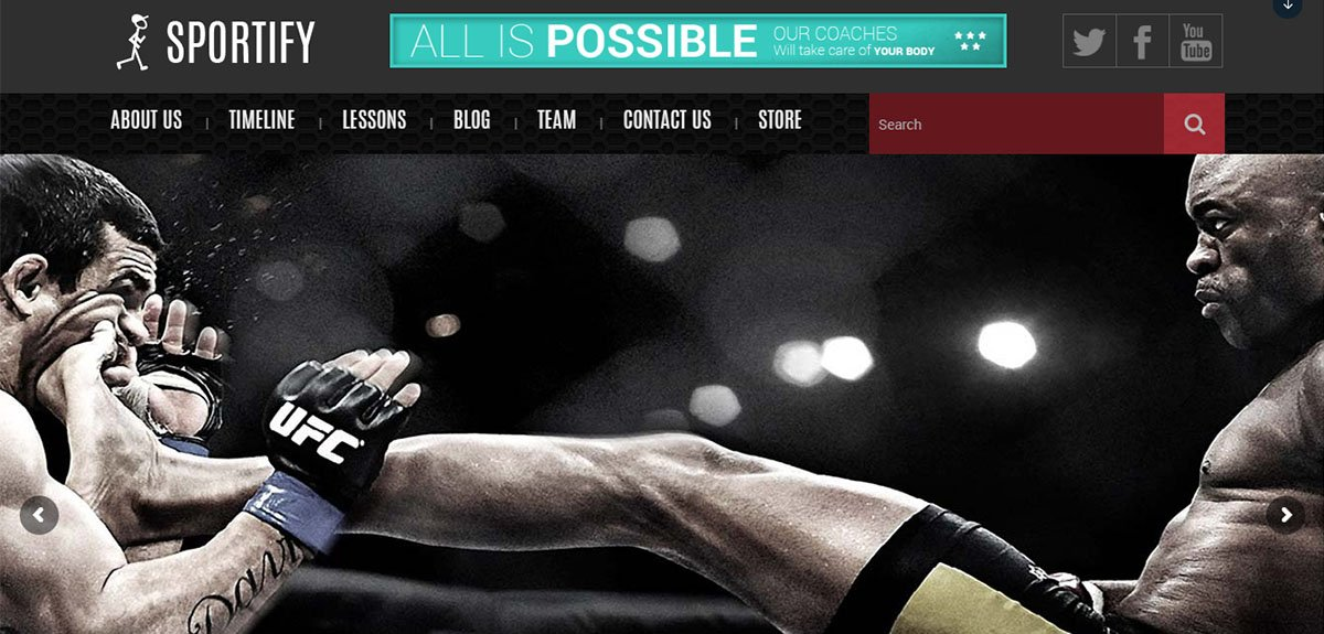 Sportify Tema Wordpress