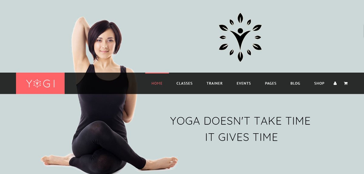Yogi Tema Wordpress per centi Yoga