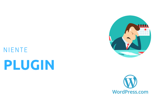 Wordpress.com niente plugin