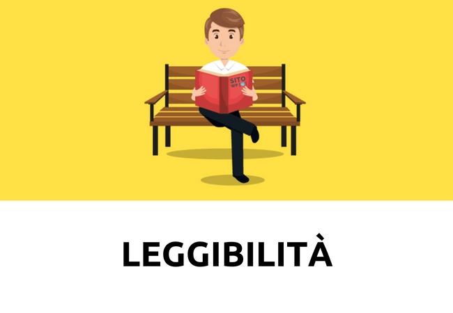 leggibilità sito web