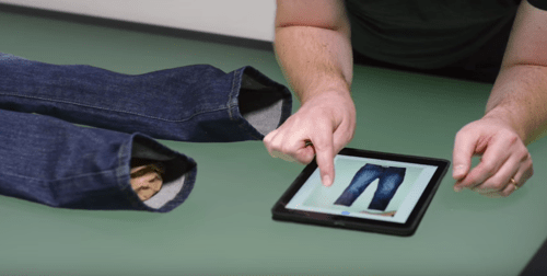 fotografare jeans ecommerce effetti luce