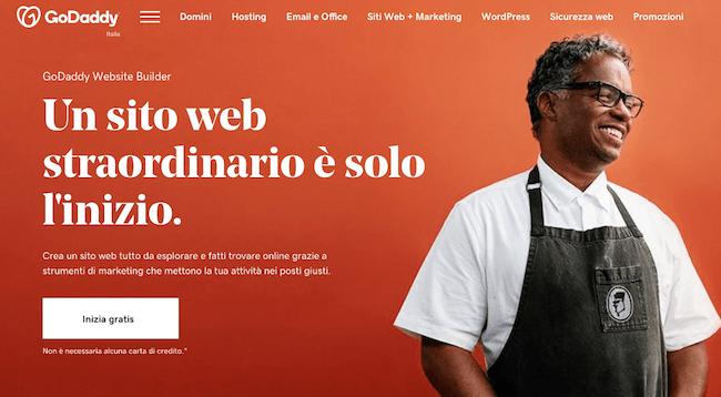Godaddy sito web