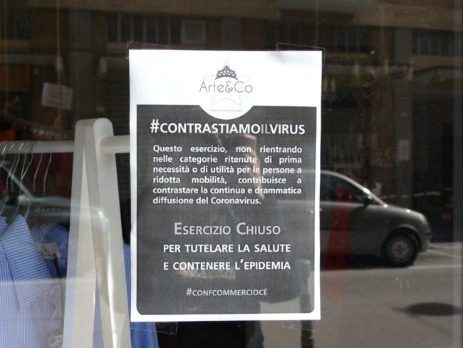 chiuso coronavirus piccole aziende