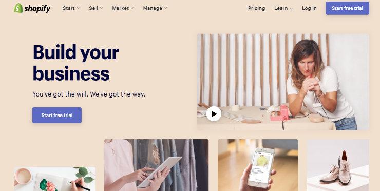 shopify sito web