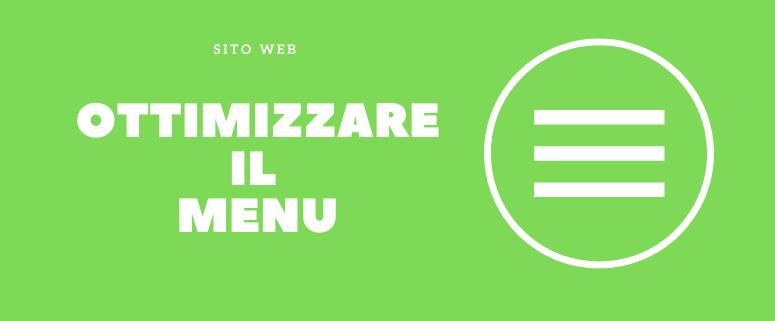 ottimizzare menu sito webottimizzare menu sito web