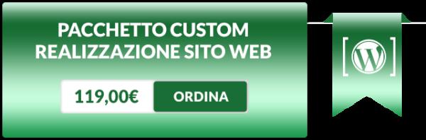 realizzazione sito web custom