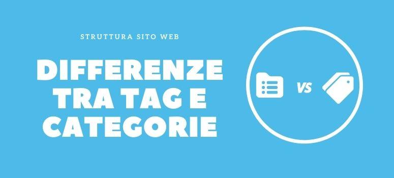 differenza tag categorie di WordPress