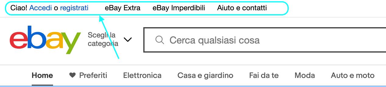 secondo menu ebay