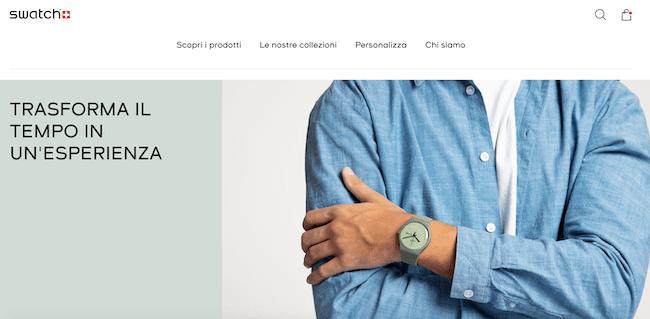 swatch negozio ecommerce