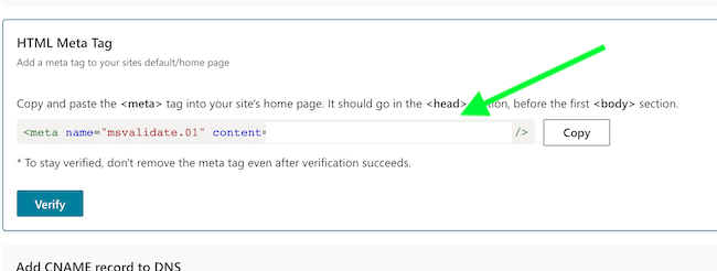 copia html meta