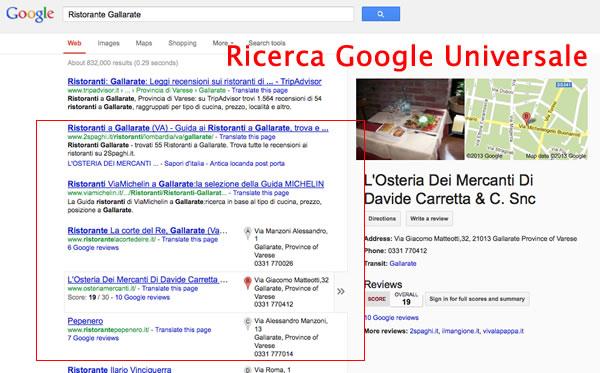 ricerca locale google